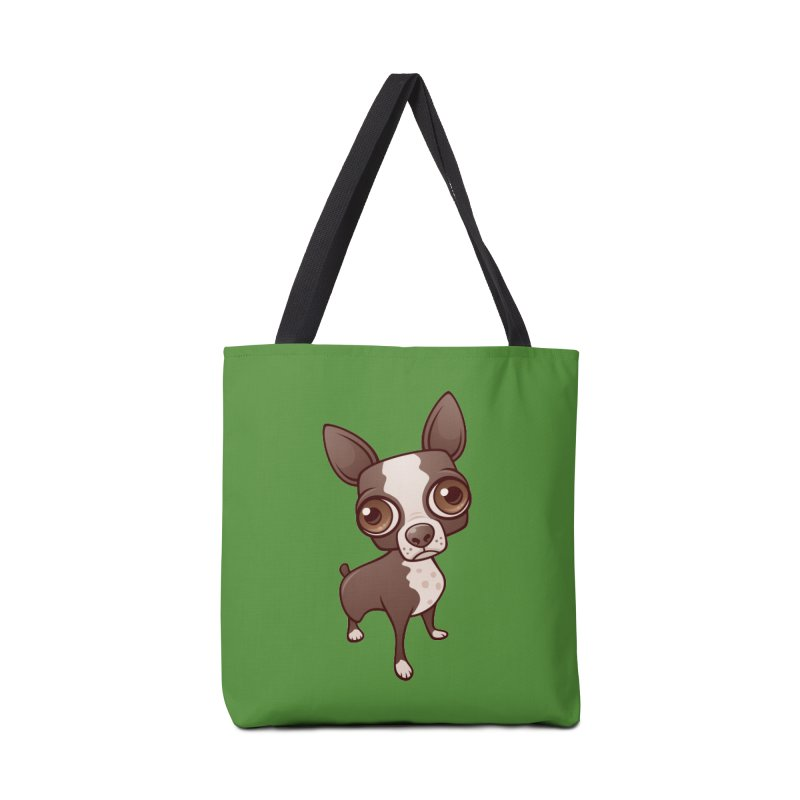Zippy the Boston Terrier Accessories Bag by Fizzgig's Artist Shop