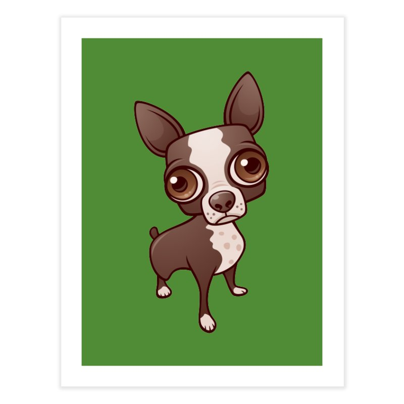 Zippy the Boston Terrier Home Fine Art Print by Fizzgig's Artist Shop