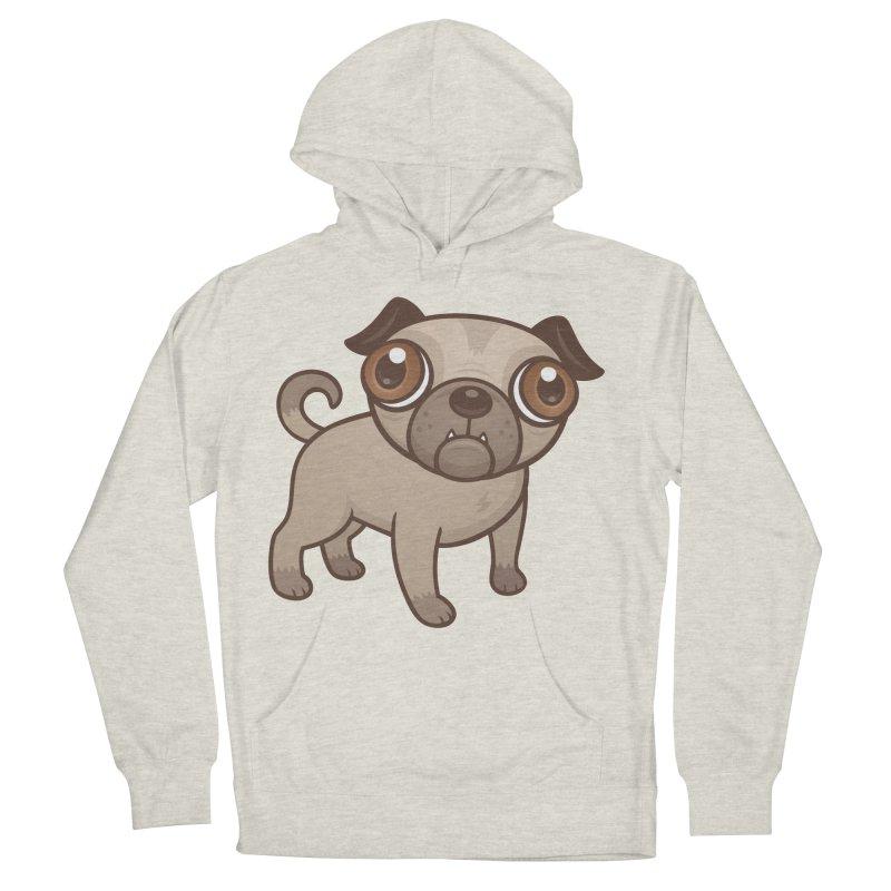 Pug Puppy Cartoon Men's Pullover Hoody by Fizzgig's Artist Shop