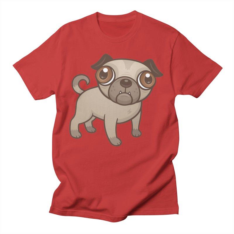 Pug Puppy Cartoon Women's Unisex T-Shirt by Fizzgig's Artist Shop