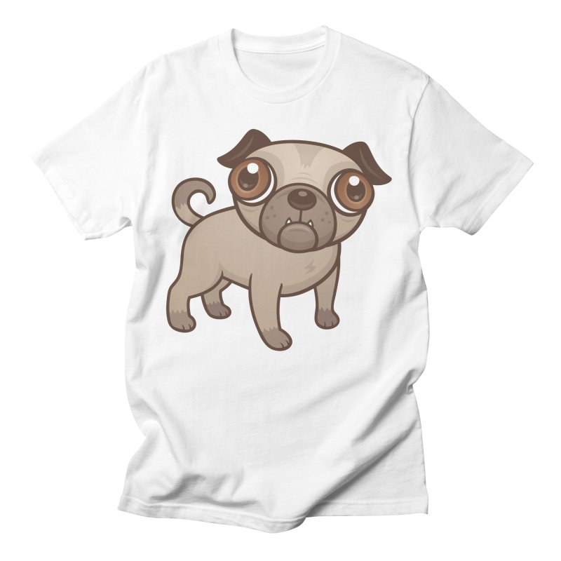 Pug Puppy Cartoon Men's T-Shirt by Fizzgig's Artist Shop