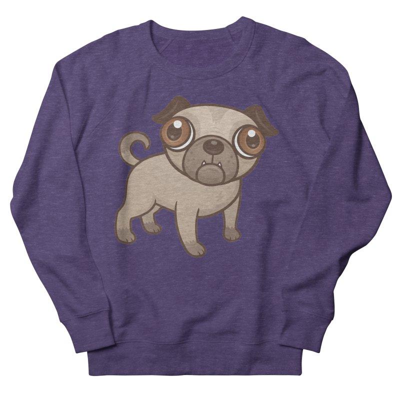 Pug Puppy Cartoon Men's Sweatshirt by Fizzgig's Artist Shop