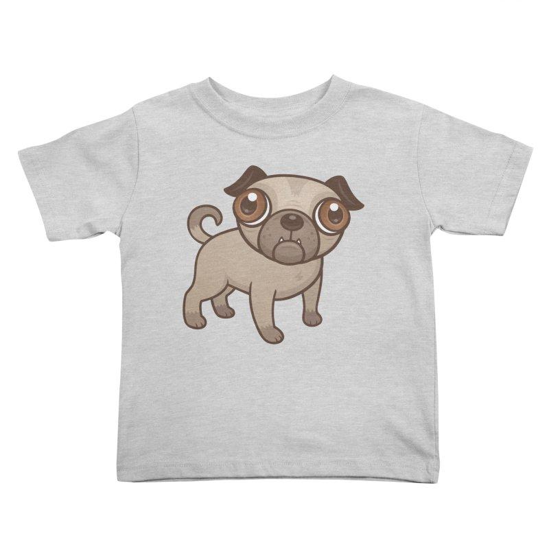 Pug Puppy Cartoon Kids Toddler T-Shirt by Fizzgig's Artist Shop