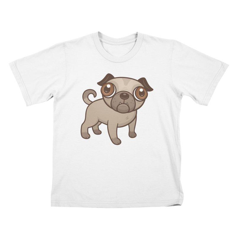 Pug Puppy Cartoon Kids T-Shirt by Fizzgig's Artist Shop