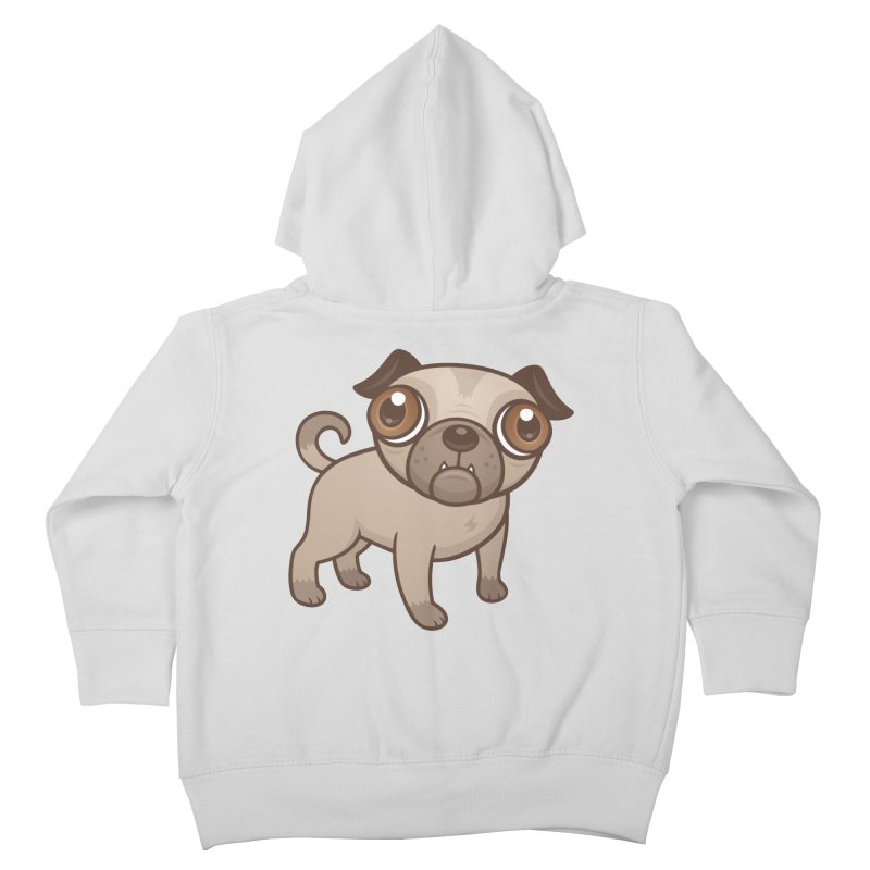 Pug Puppy Cartoon Kids Toddler Zip-Up Hoody by Fizzgig's Artist Shop