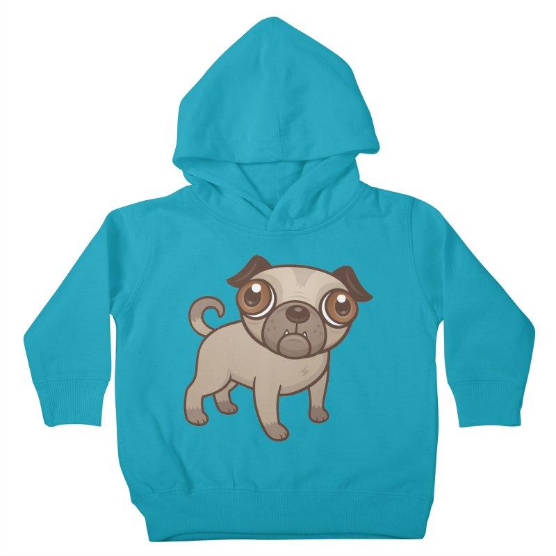 Pug Puppy Cartoon Kids Toddler Pullover Hoody by Fizzgig's Artist Shop