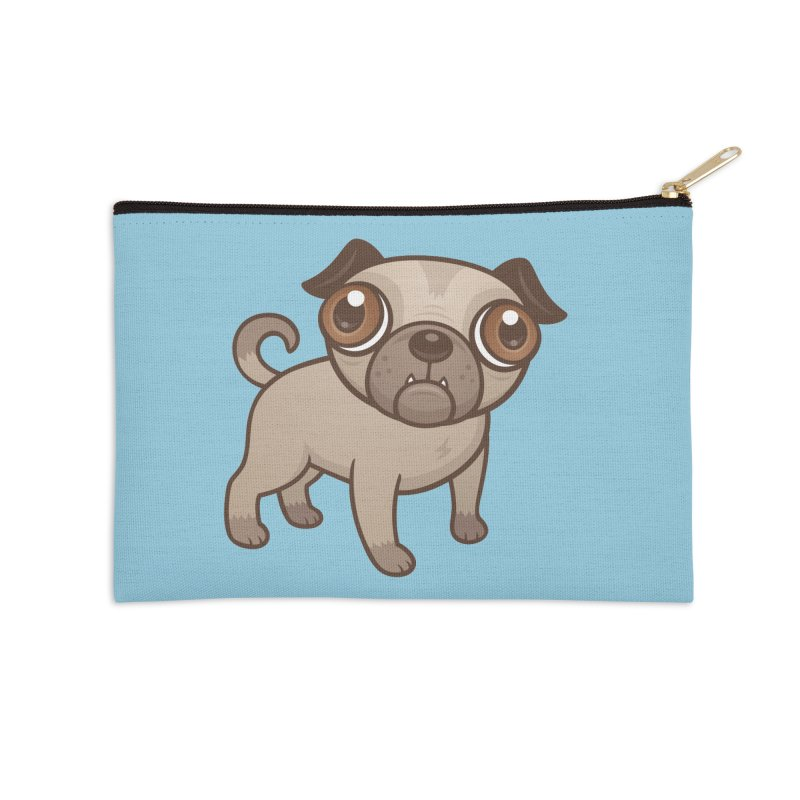 Pug Puppy Cartoon Accessories Zip Pouch by Fizzgig's Artist Shop