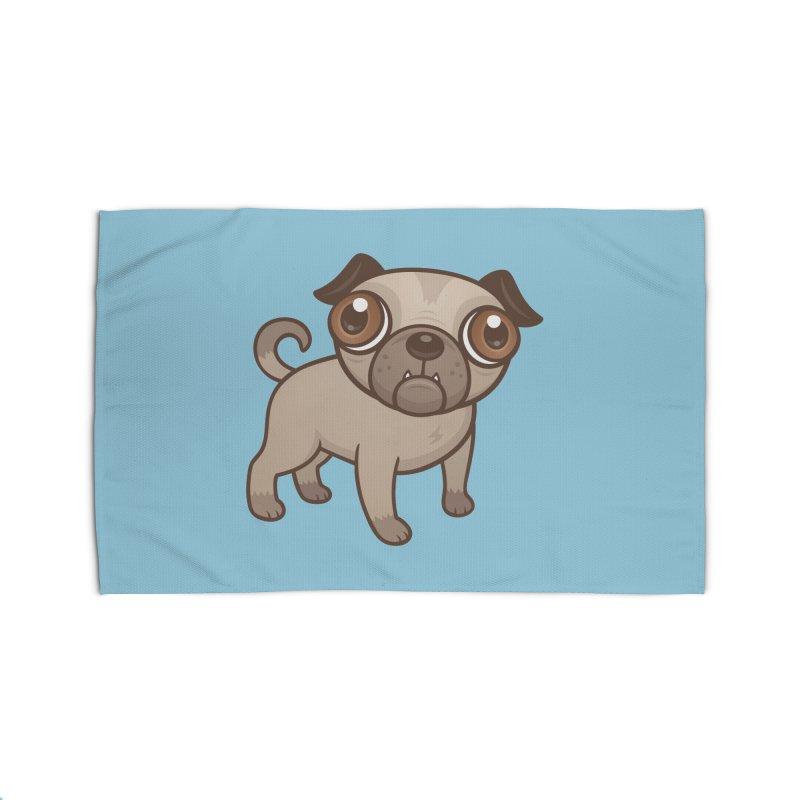 Pug Puppy Cartoon Home Rug by Fizzgig's Artist Shop