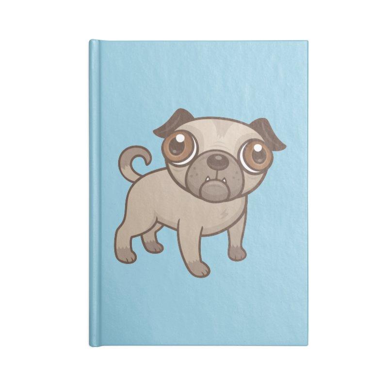 Pug Puppy Cartoon Accessories Notebook by Fizzgig's Artist Shop