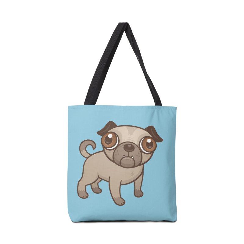 Pug Puppy Cartoon Accessories Bag by Fizzgig's Artist Shop