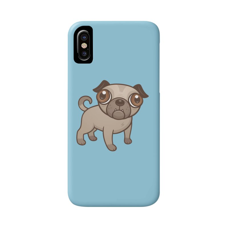 Pug Puppy Cartoon Accessories Phone Case by Fizzgig's Artist Shop