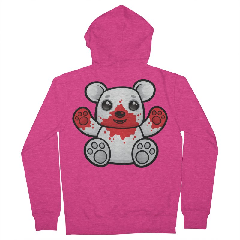 Polar Bear Cub First Kill Women's Zip-Up Hoody by Fizzgig's Artist Shop