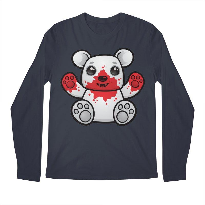 Polar Bear Cub First Kill Men's Longsleeve T-Shirt by Fizzgig's Artist Shop