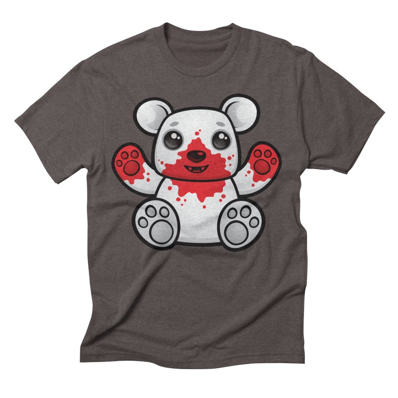 Polar Bear Cub First Kill Men's Triblend T-Shirt by Fizzgig's Artist Shop