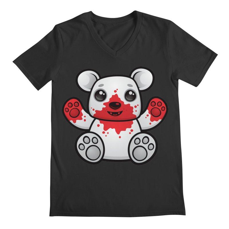 Polar Bear Cub First Kill Men's V-Neck by Fizzgig's Artist Shop