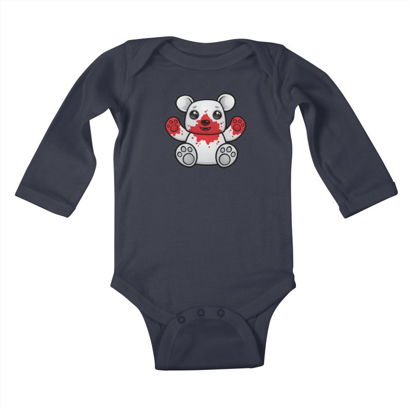 Polar Bear Cub First Kill Kids Baby Longsleeve Bodysuit by Fizzgig's Artist Shop