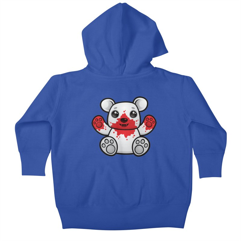 Polar Bear Cub First Kill Kids Baby Zip-Up Hoody by Fizzgig's Artist Shop