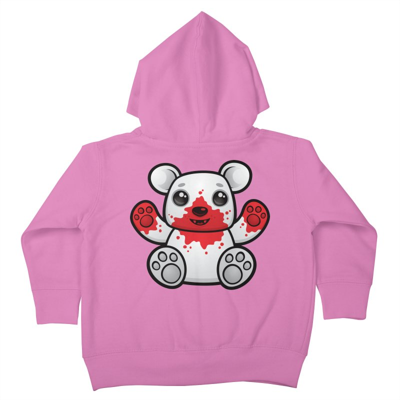 Polar Bear Cub First Kill Kids Toddler Zip-Up Hoody by Fizzgig's Artist Shop