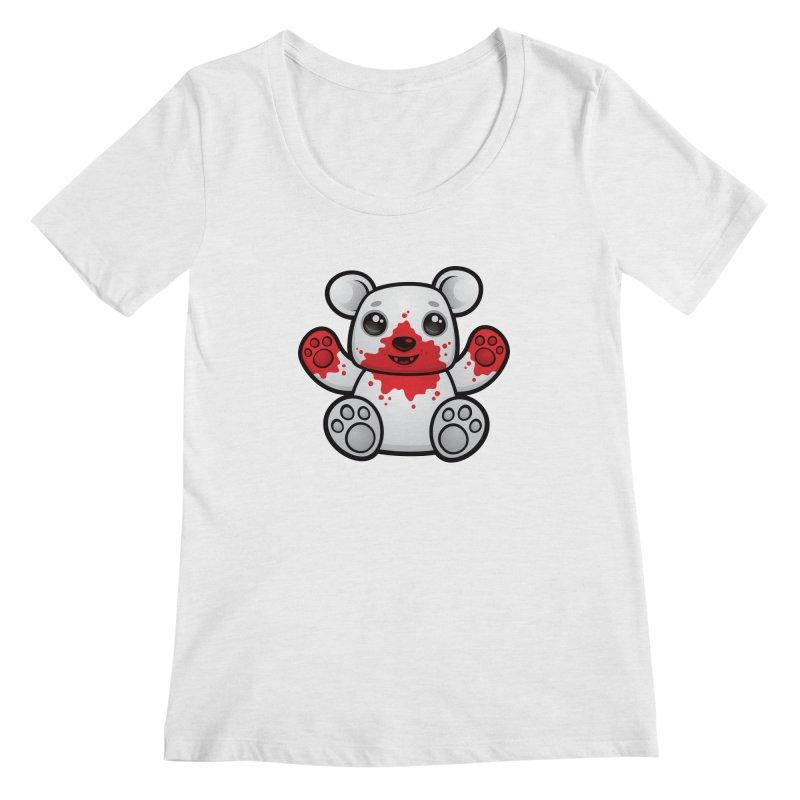 Polar Bear Cub First Kill Women's Scoopneck by Fizzgig's Artist Shop