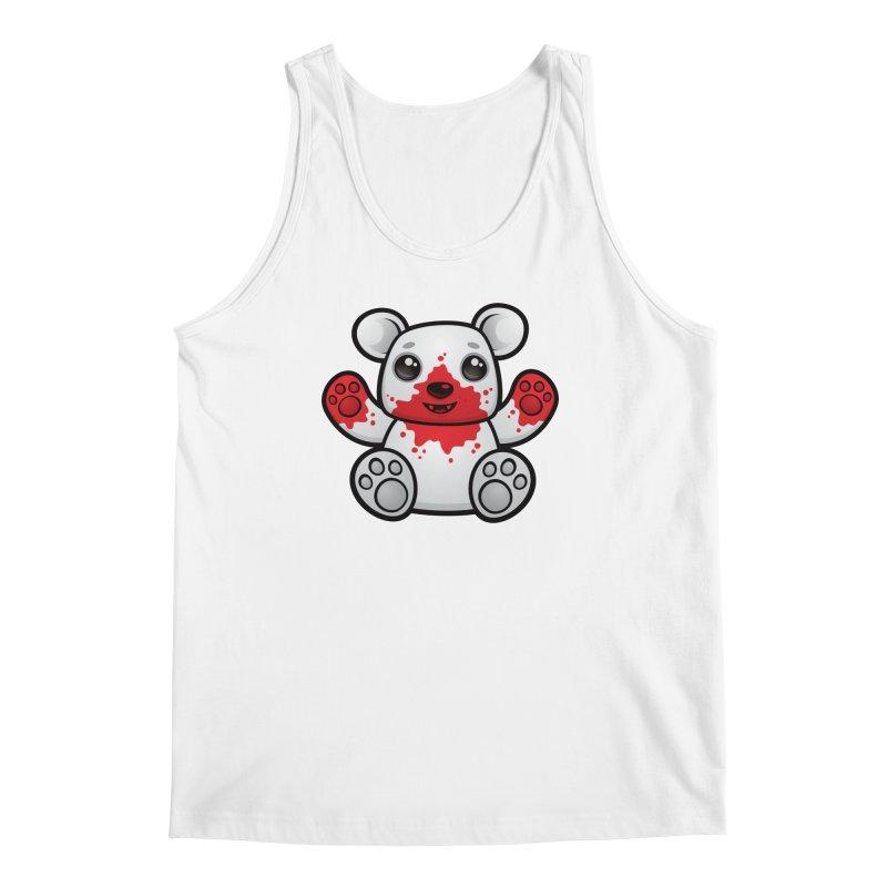 Polar Bear Cub First Kill Men's Tank by Fizzgig's Artist Shop
