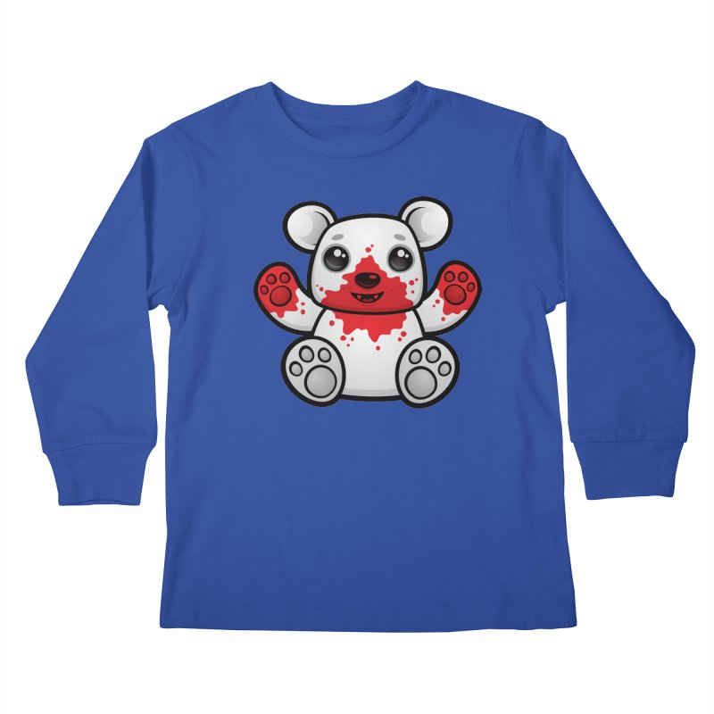 Polar Bear Cub First Kill Kids Longsleeve T-Shirt by Fizzgig's Artist Shop