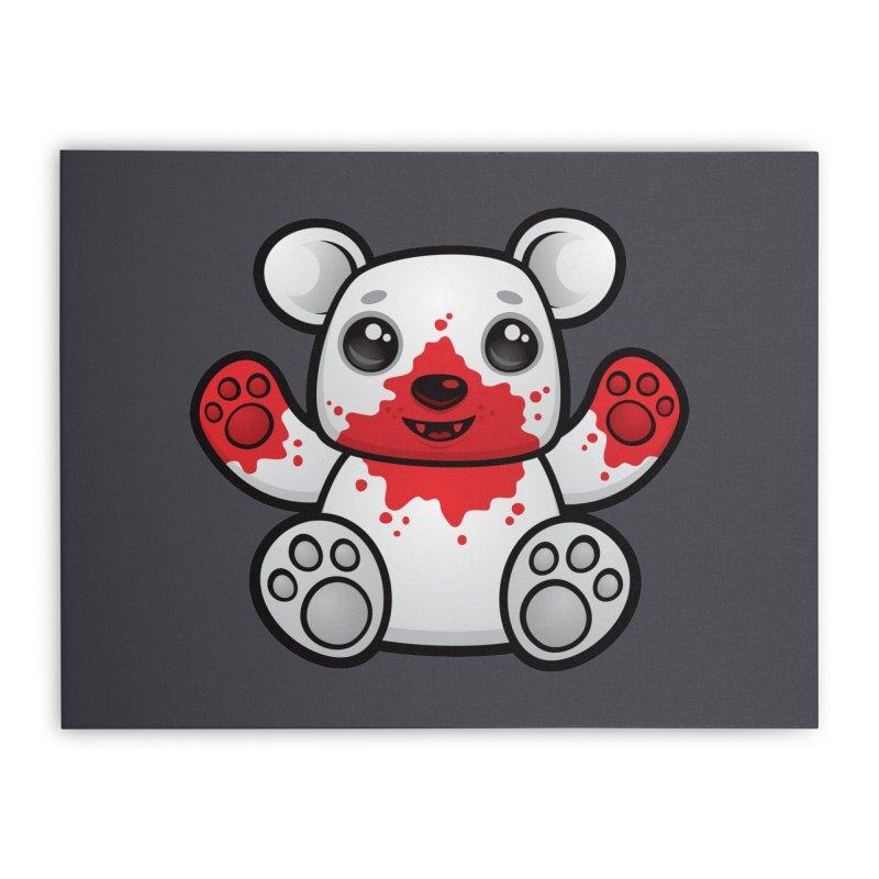 Polar Bear Cub First Kill Home Stretched Canvas by Fizzgig's Artist Shop