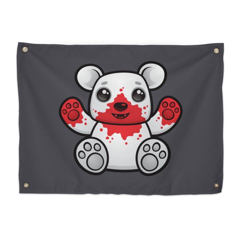 Polar Bear Cub First Kill Home Tapestry by Fizzgig's Artist Shop
