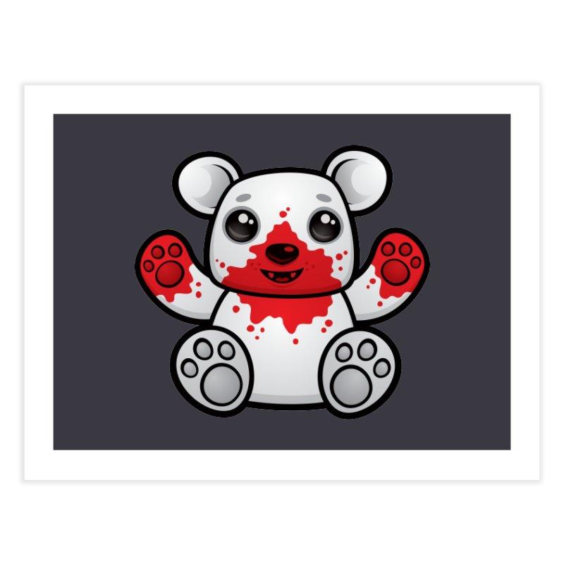 Polar Bear Cub First Kill Home Fine Art Print by Fizzgig's Artist Shop