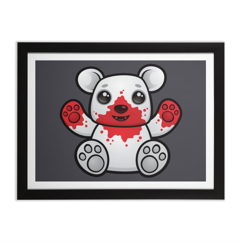 Polar Bear Cub First Kill Home Framed Fine Art Print by Fizzgig's Artist Shop