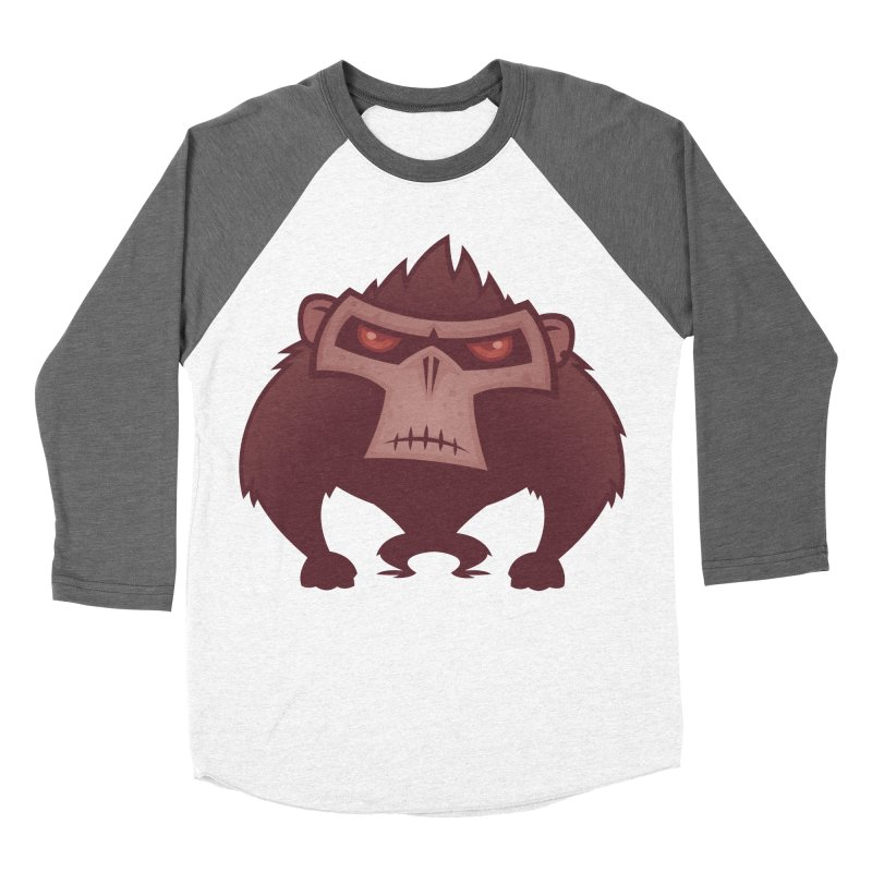 Angry Ape Women's Baseball Triblend T-Shirt by Fizzgig's Artist Shop