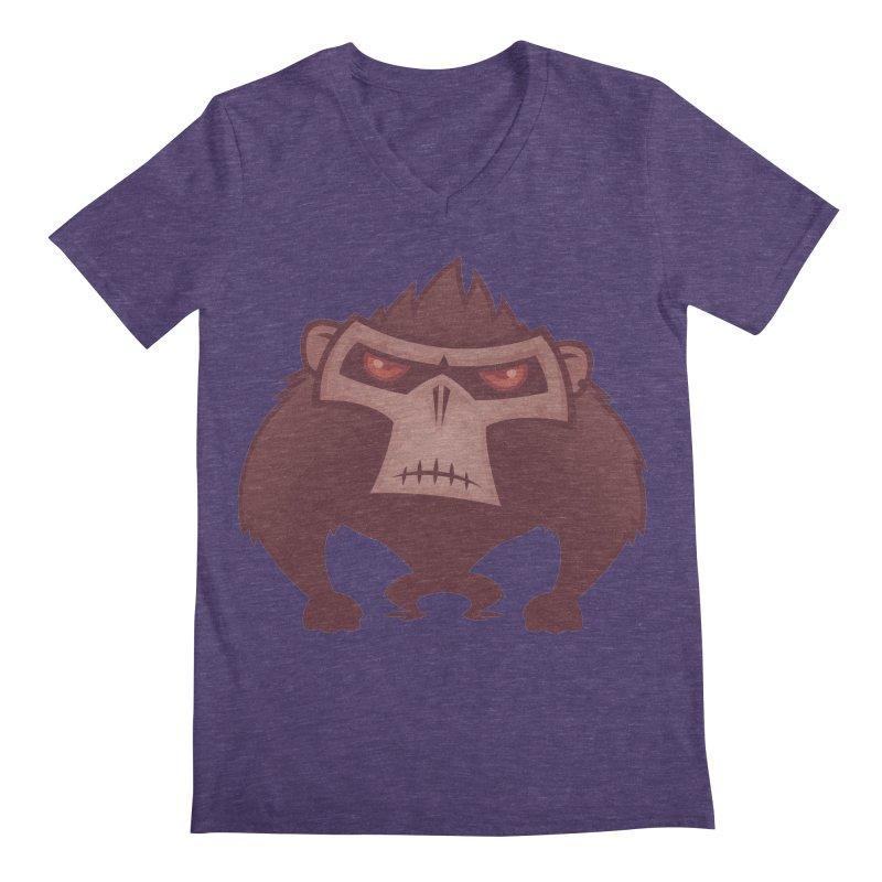 Angry Ape Men's V-Neck by Fizzgig's Artist Shop