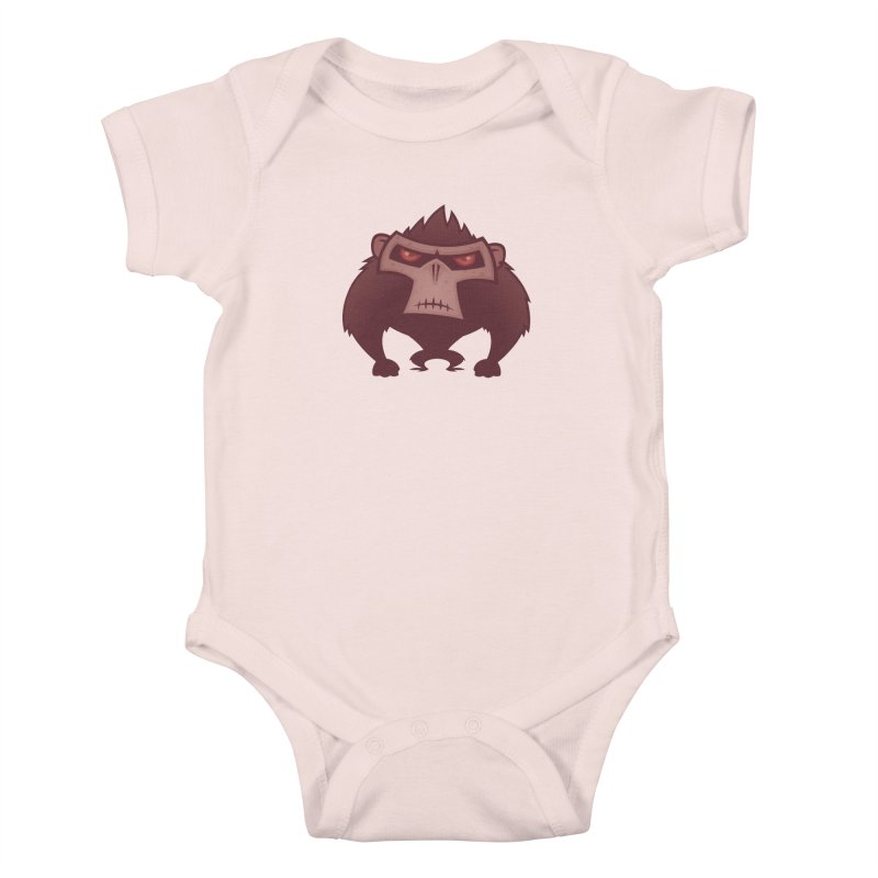 Angry Ape Kids Baby Bodysuit by Fizzgig's Artist Shop