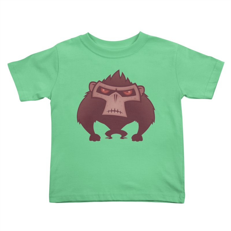 Angry Ape Kids Toddler T-Shirt by Fizzgig's Artist Shop