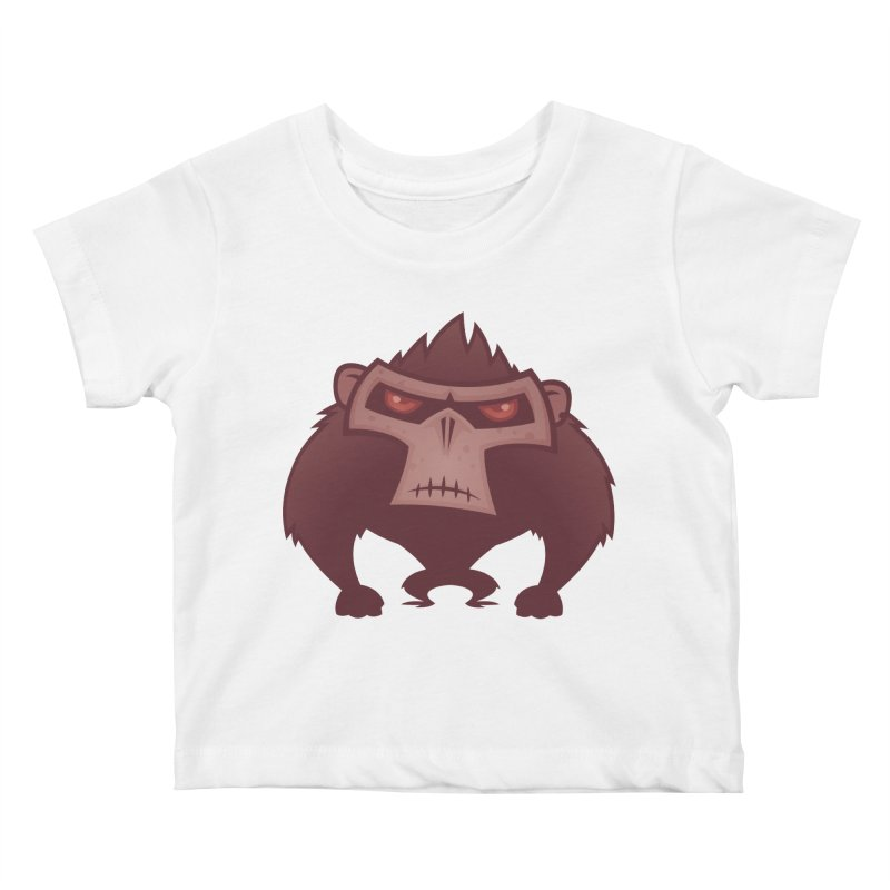 Angry Ape Kids Baby T-Shirt by Fizzgig's Artist Shop