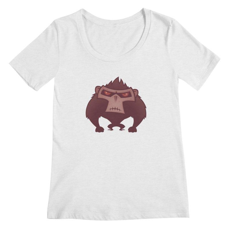 Angry Ape Women's Scoopneck by Fizzgig's Artist Shop