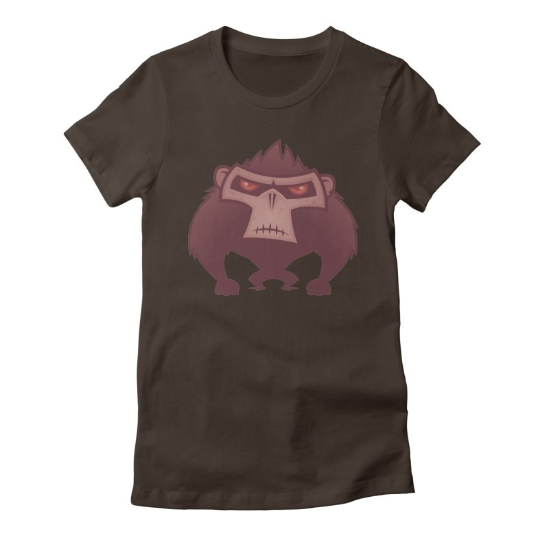 Angry Ape Women's Fitted T-Shirt by Fizzgig's Artist Shop