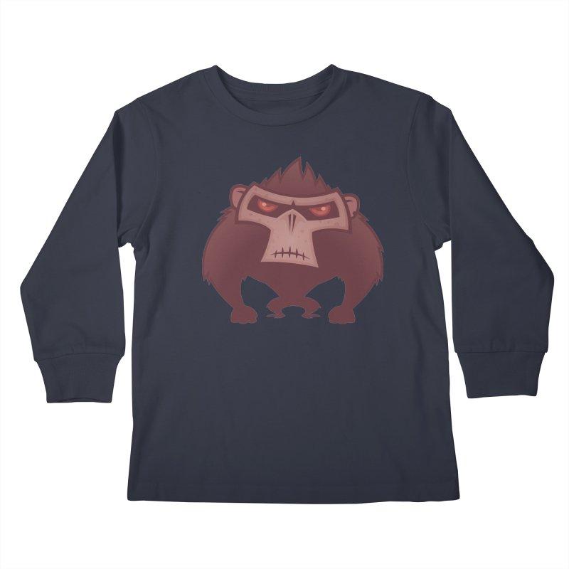 Angry Ape Kids Longsleeve T-Shirt by Fizzgig's Artist Shop
