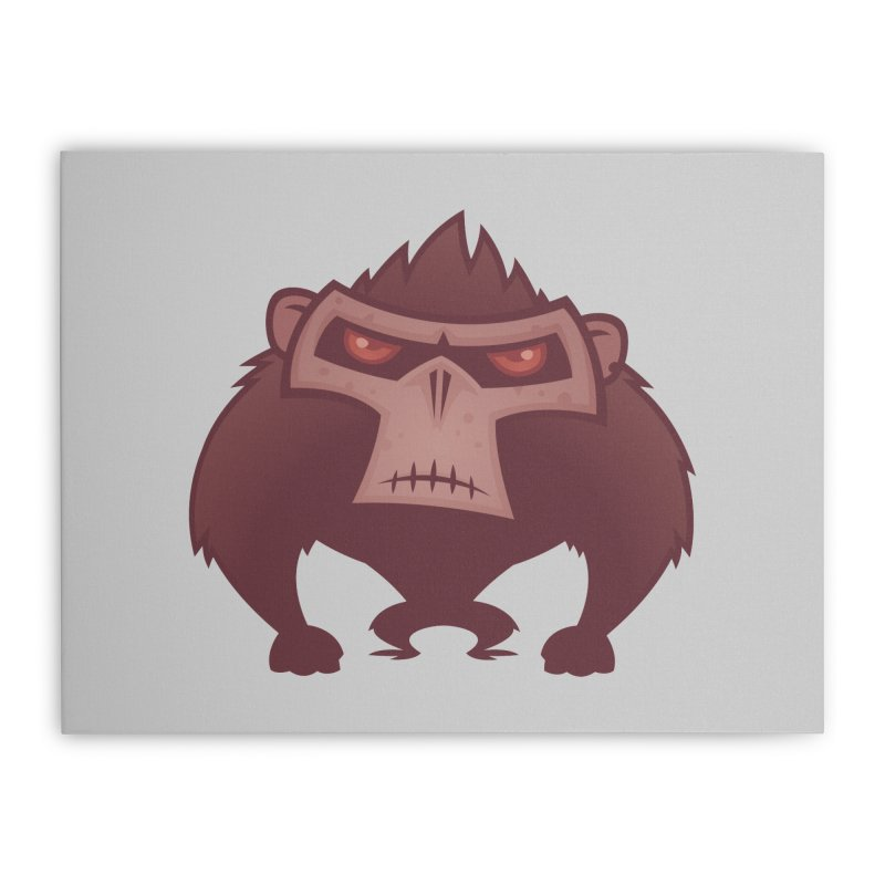 Angry Ape Home Stretched Canvas by Fizzgig's Artist Shop
