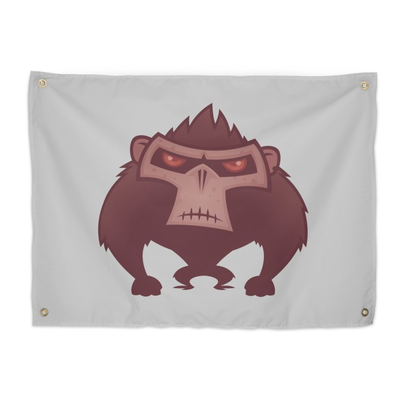 Angry Ape Home Tapestry by Fizzgig's Artist Shop