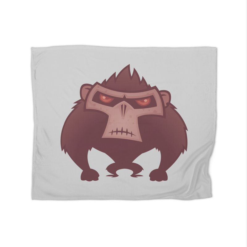 Angry Ape Home Blanket by Fizzgig's Artist Shop