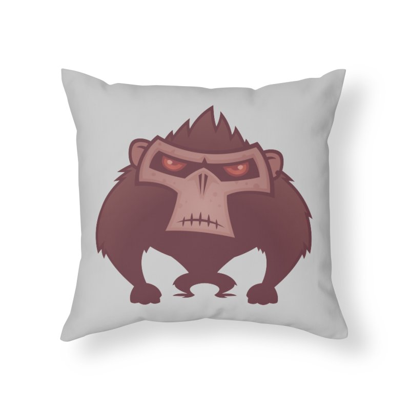 Angry Ape Home Throw Pillow by Fizzgig's Artist Shop