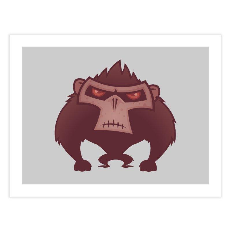 Angry Ape Home Fine Art Print by Fizzgig's Artist Shop