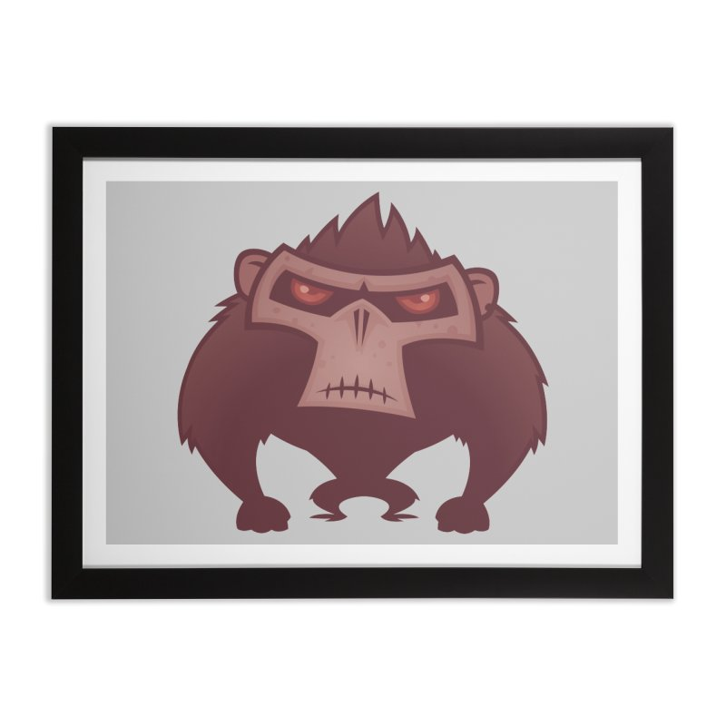 Angry Ape Home Framed Fine Art Print by Fizzgig's Artist Shop