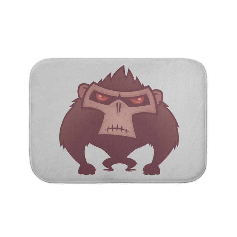Angry Ape Home Bath Mat by Fizzgig's Artist Shop