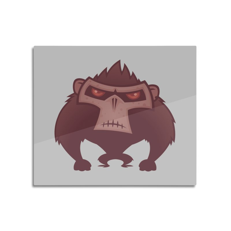 Angry Ape Home Mounted Aluminum Print by Fizzgig's Artist Shop