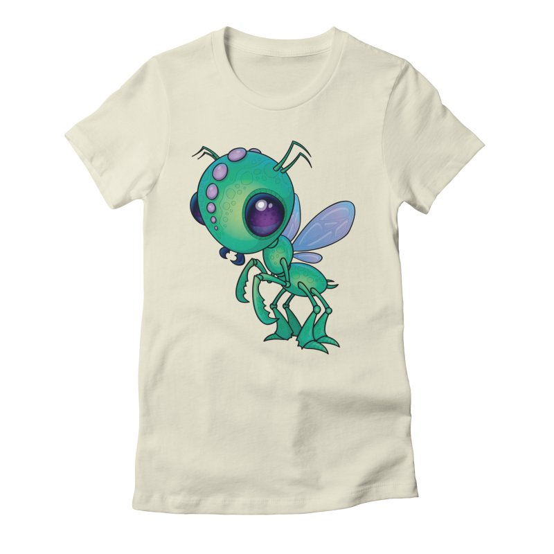 Chirpee Women's Fitted T-Shirt by Fizzgig's Artist Shop