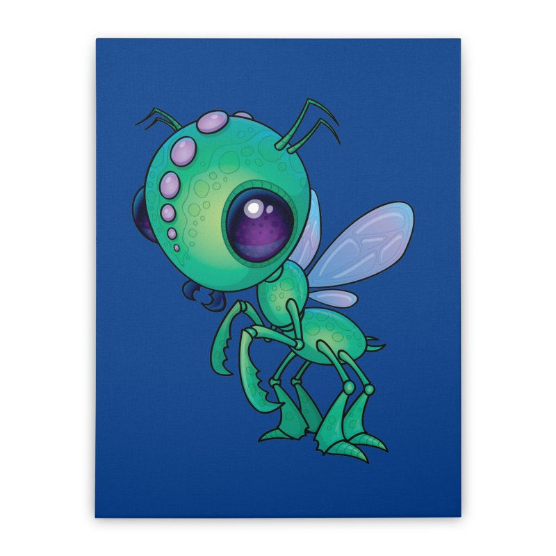 Chirpee Home Stretched Canvas by Fizzgig's Artist Shop