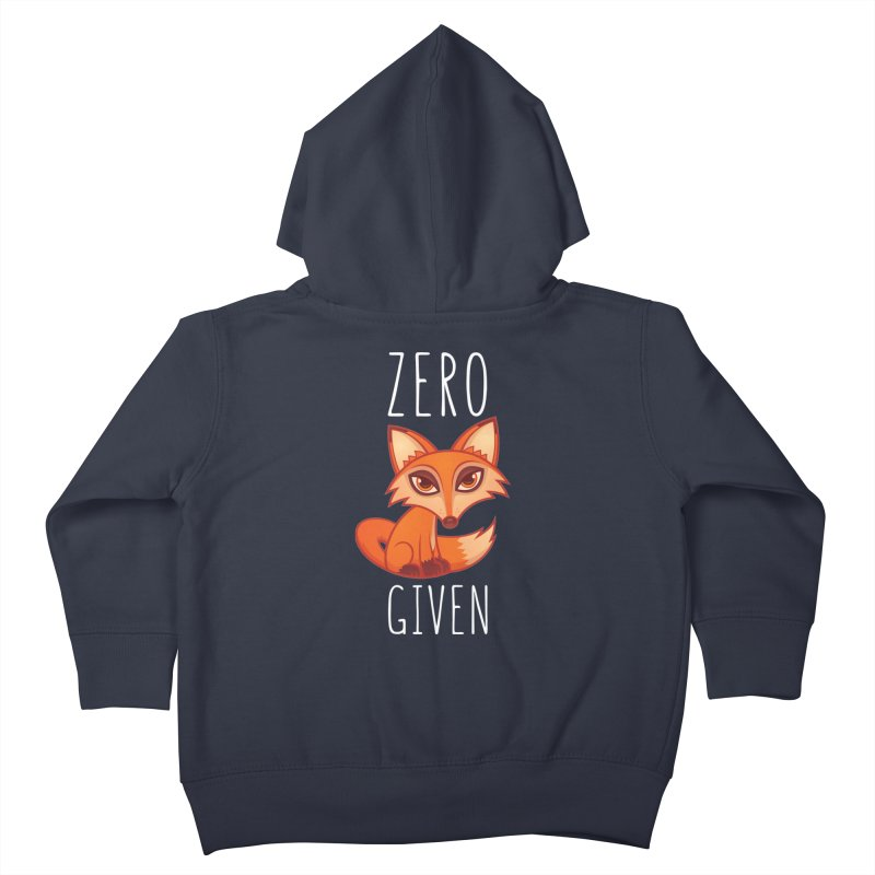 Zero Fox Given Kids Toddler Zip-Up Hoody by Fizzgig's Artist Shop
