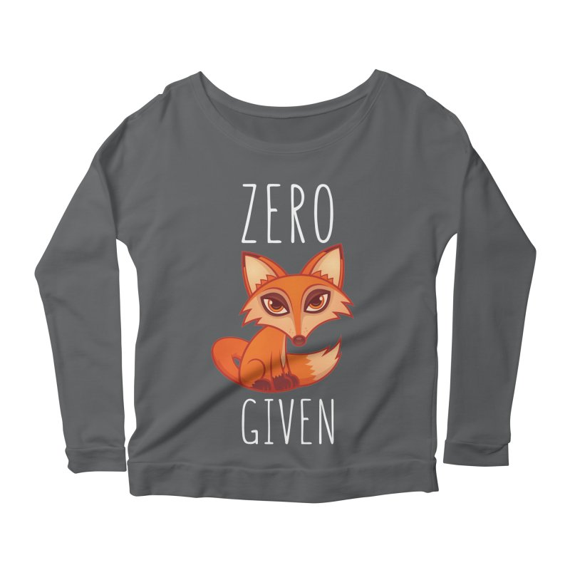Zero Fox Given Women's Longsleeve Scoopneck  by Fizzgig's Artist Shop