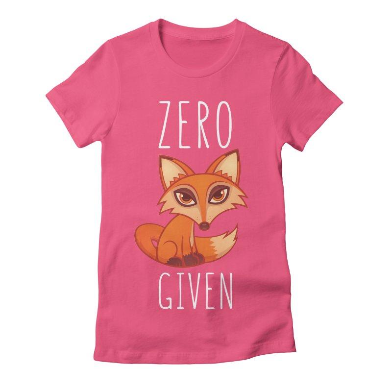 Zero Fox Given Women's Fitted T-Shirt by Fizzgig's Artist Shop